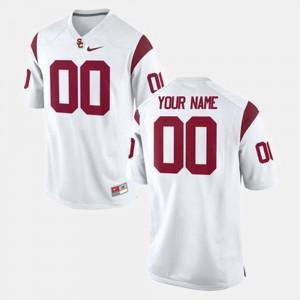 USC Customized Jerseys #00 Men's College Football White 355009-621