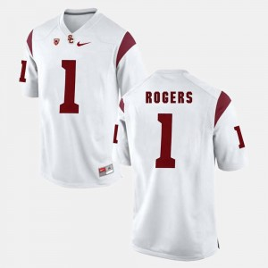 White Pac-12 Game Darreus Rogers USC Jersey #1 Mens 693994-784