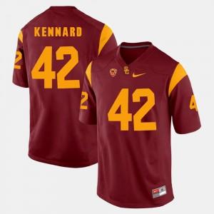 #42 For Men Pac-12 Game Devon Kennard USC Jersey Red 183287-724