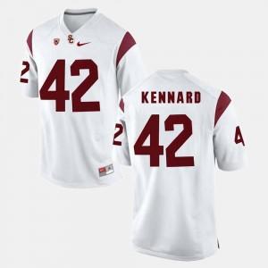 #42 Pac-12 Game Men's White Devon Kennard USC Jersey 553226-936