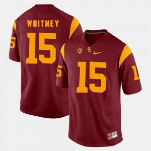 Red Isaac Whitney USC Jersey Mens Pac-12 Game #15 152806-479