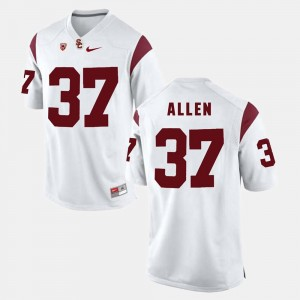 Javorius Allen USC Jersey White #37 Men's Pac-12 Game 162141-730
