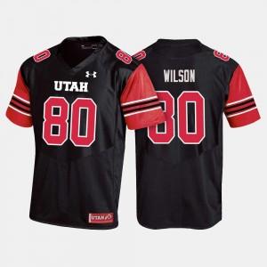 Siaosi Wilson Utah Jersey For Men's Black College Football #80 845354-280