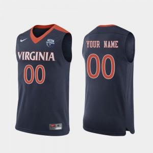 #00 Navy UVA Custom Jerseys 2019 Men's Basketball Champions Men 293947-933
