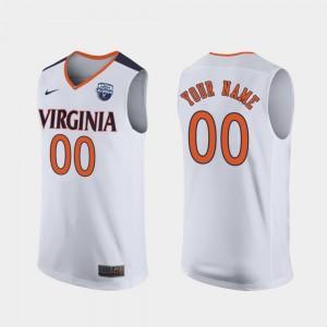 White #00 UVA Customized Jerseys For Men 2019 Men's Basketball Champions 707135-292