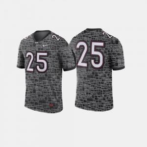 #25 Virginia Tech Jersey Men College Football Anthracite 729332-379