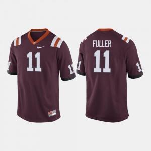 Men's #11 College Football Kendall Fuller Virginia Tech Jersey Maroon 532773-246