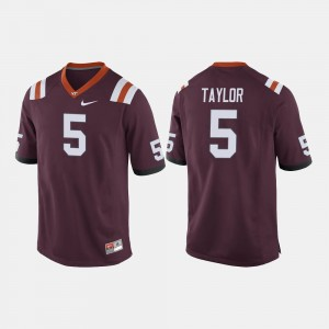 Men College Football Tyrod Taylor Virginia Tech Jersey Maroon #5 197680-645