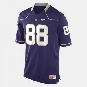 Mens #88 Purple Washington Jersey College Football 574963-661