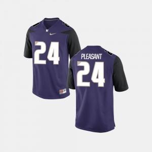 For Men Purple College Football #24 Kamari Pleasant Washington Jersey 858005-675