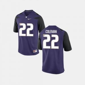 Lavon Coleman Washington Jersey For Men's Purple #22 College Football 853645-429