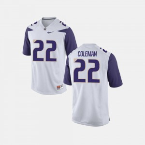 #22 Lavon Coleman Washington Jersey White Men's College Football 127428-300