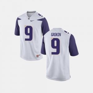 College Football #9 White For Men Myles Gaskin Washington Jersey 887245-803