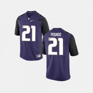 Quinten Pounds Washington Jersey #21 For Men's Purple College Football 302562-205