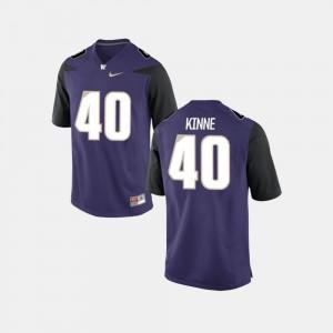 Ralph Kinne Washington Jersey #40 Mens College Football Purple 670784-606