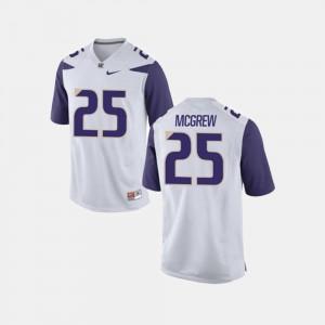 Sean McGrew Washington Jersey Men's #25 College Football White 229389-610