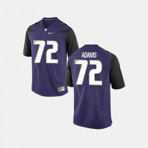 #72 Men Purple College Football Trey Adams Washington Jersey 986359-458
