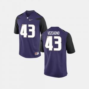Tristan Vizcaino Washington Jersey College Football Purple Mens #43 463704-810