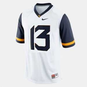 White Andrew Buie WVU Jersey #13 Men's College Football 715805-865