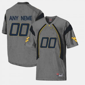 College Limited Football For Men WVU Customized Jersey Gray #00 518831-451