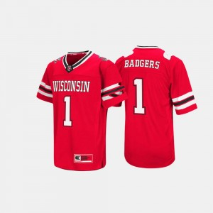 Wisconsin Jersey Red #1 Men's Hail Mary II 801934-781