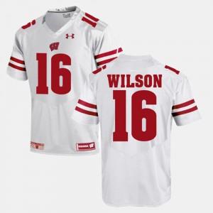 Men Alumni Football Game Russell Wilson Wisconsin Jersey White #16 334672-299