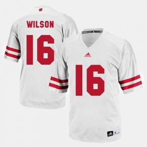 Russell Wilson Wisconsin Jersey College Football #16 White Men's 884425-705
