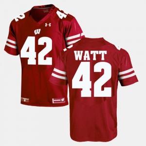 T.J Watt Wisconsin Jersey Alumni Football Game For Men Red #42 287101-500