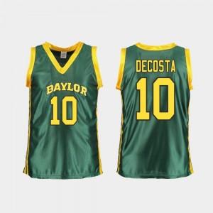College Basketball Ladies #10 Replica Aquira DeCosta Baylor Jersey Green 275425-369