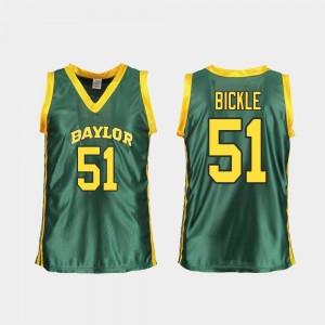 College Basketball Replica Caitlyn Bickle Baylor Jersey Green Women #51 718733-350
