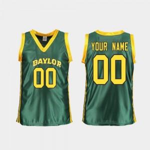 Green Womens Baylor Custom Jerseys College Basketball #00 Replica 168029-471