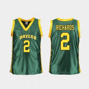 For Women's Green College Basketball DiDi Richards Baylor Jersey Replica #2 663800-276