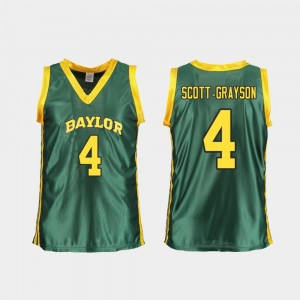 College Basketball For Women's Replica #4 Green Honesty Scott-Grayson Baylor Jersey 471784-440