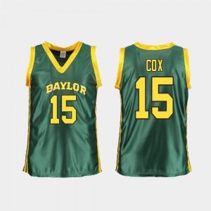 Lauren Cox Baylor Jersey Green Replica #15 Women College Basketball 678941-279