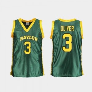 Ladies College Basketball Replica Trinity Oliver Baylor Jersey Green #3 290076-270