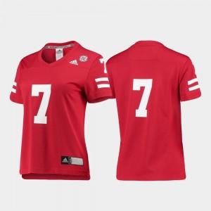 Nebraska Jersey Replica Scarlet College Football For Women #7 623174-873