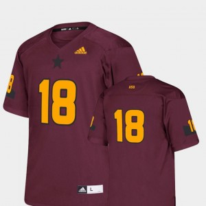 Replica Maroon College Football #18 ASU Jersey For Kids 941907-822