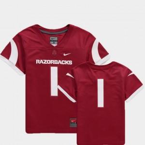 #1 Team Replica College Football For Kids Arkansas Jersey Cardinal 376192-486