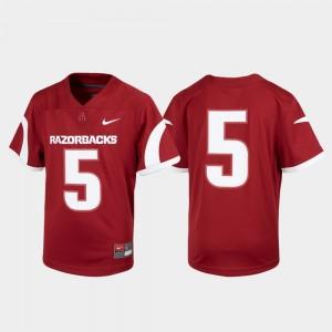 Cardinal Untouchable #5 Football Youth Arkansas Jersey 756602-149
