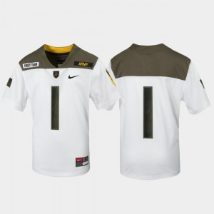 Limited Edition Replica 1st Cavalry Division Youth(Kids) White #1 Army Jersey 930003-819