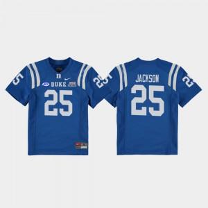 Youth(Kids) Deon Jackson Duke Jersey Royal College Football Game #25 2018 Independence Bowl 565524-147