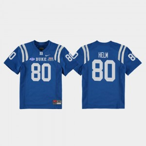 #80 2018 Independence Bowl Daniel Helm Duke Jersey Youth Royal College Football Game 764128-983