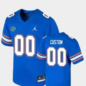 Royal #00 College Football Youth Game Gators Custom Jersey 711263-545