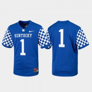 #1 UK Jersey For Kids College Football Replica Royal 251794-857