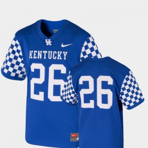 Team Replica Youth College Football Royal UK Jersey #26 616585-421