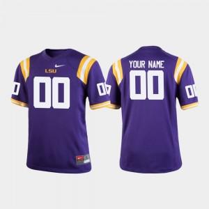 #00 College Football LSU Customized Jerseys Youth Purple 317130-848