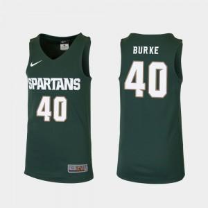 #40 Replica Braden Burke MSU Jersey Kids Green College Basketball 905587-409
