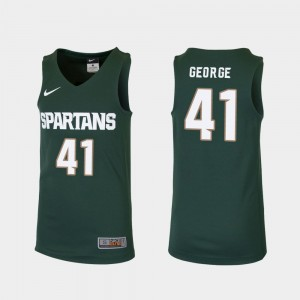 Youth Green College Basketball Conner George MSU Jersey Replica #41 733550-192