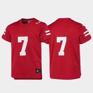 Scarlet #7 College Football Kids Replica Nebraska Jersey 858611-454
