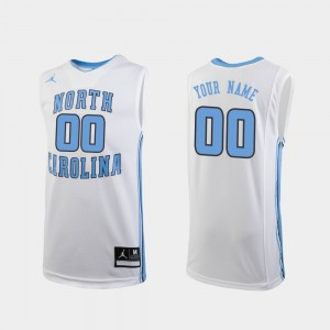 Youth(Kids) Replica #00 UNC Customized Jersey White College Basketball 963470-492